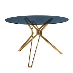 Table ronde Gold & Glass