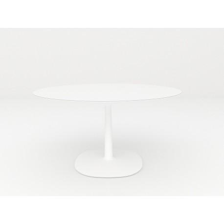 Table Multiplo / plateau rond en verre Ø 118 cm / extérieur