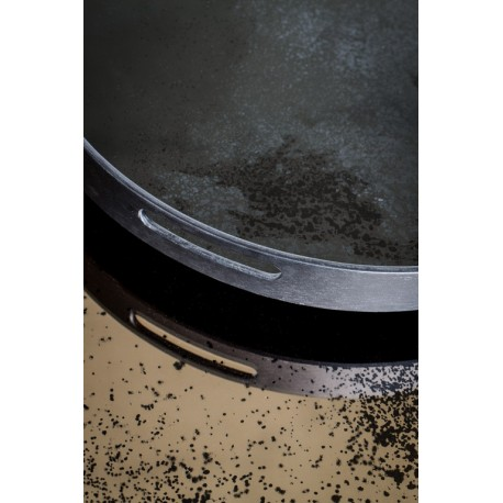 Plateau Heavy Aged Charcoal Mirror
