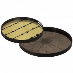 Plateau Bronze Slice Mirror