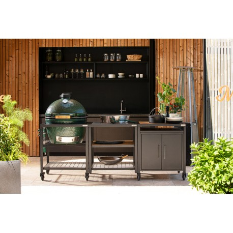 Big Green Egg - Pack Table modulaire + Meuble extension + Meuble placard