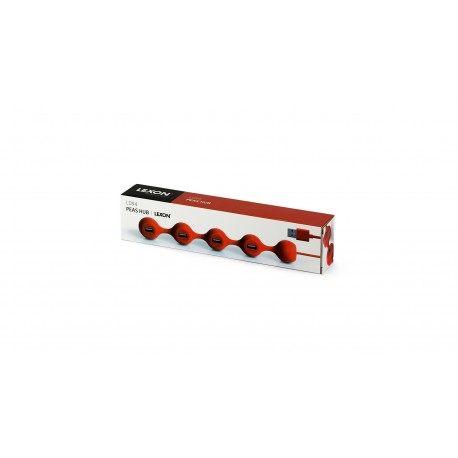 Chargeur usb PEAS HUB Rouge