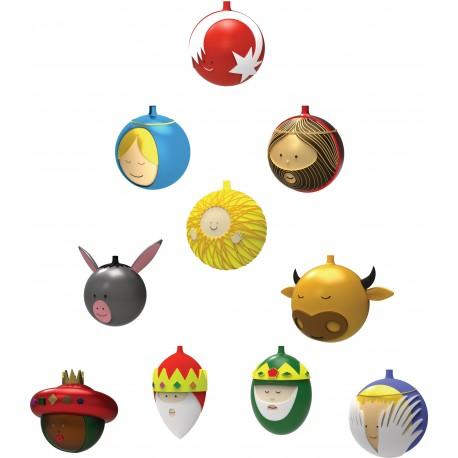 Set de 10 boules de Noël