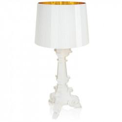 Lampe Bourgie métallisé blanc/or