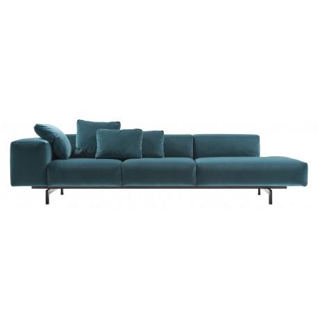 Canapé Largo Velvet / accoudoir à droite