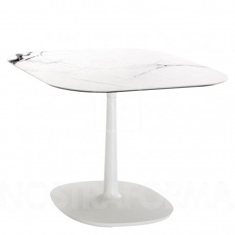 Table Multiplo / plateau carré marbre 118 cm / intérieur