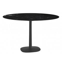 Table Multiplo / grand plateau rond en marbre Ø 135 cm / intérieur