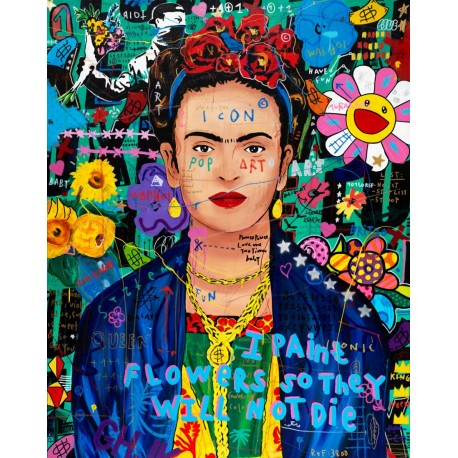 Tableau Frida flowers